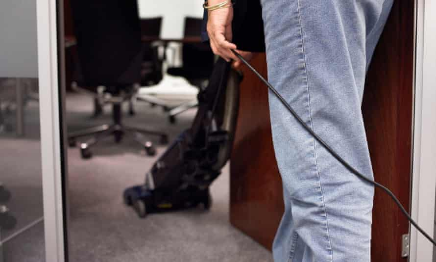 HMRC said that the pay of cleaners in its offices was not its responsibility