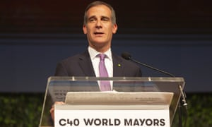 Eric Garcetti, mayor of Los Angeles and chair of the C40 group of global cities, has said he will approach the UN secretary general, António Guterres on behalf of US cities.