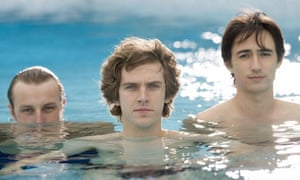 In deep … Oliver Coleman, Dan Stevens and Alex Wyndham in the TV adaptation of The Line of Beauty.
