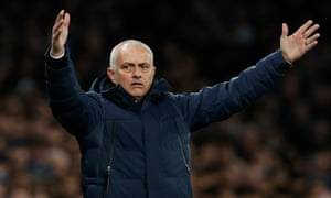 Tottenham's manager José Mourinho said a top-four finish would be an 'incredible, incredible achievement for the boys'.
