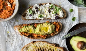 Ricotta and romesco sandwich