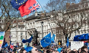 Thousands of pro-EU supporters take part in Unite For Europe rally in Parliament Square