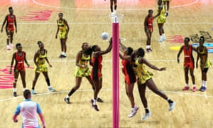 Jamaica and Malawi compete during the Netball World Cup in Liverpool, UK