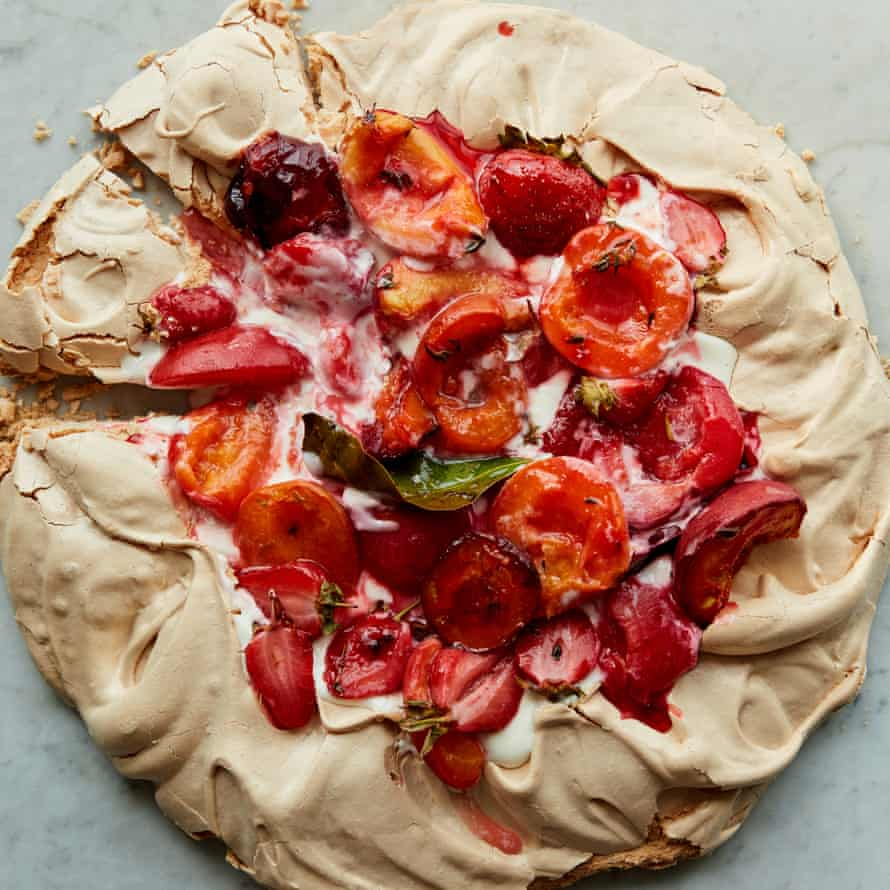 Achieve a truly chewy meringue, like Anna Jones's pavlova.
