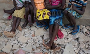 Girls sit together at a primary school in Amudat, Karamoja, Uganda