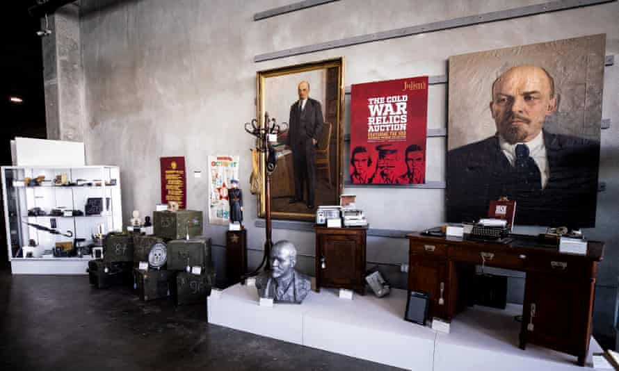 Cold war relics from the KGB Espionage Museum on display for the auction