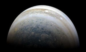 Jupiter's southern hemisphere captured by Nasa's Juno spacecraft during a close fly-by of the planet