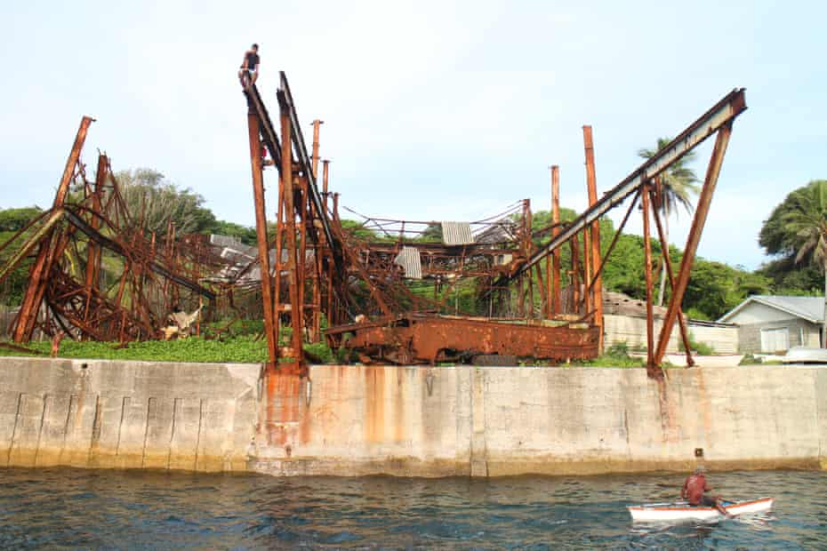 The old cantilever that used to load phosphate on to ships