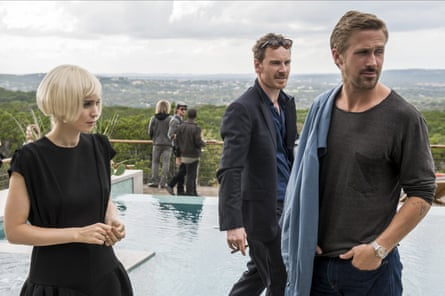 Rooney Mara, Michael Fassbender and Ryan Gosling in Song to Song.