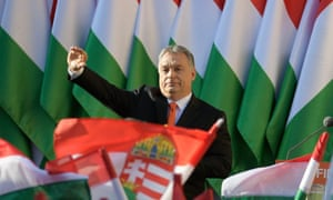 Hungarian prime minister Viktor Orbán at an electoral rally south-west of Budapest, April 2018