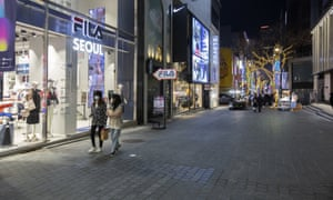 Streets in downtown Seoul are almost empty during the holiday season due to the high number of coronavirus cases in South Korea.