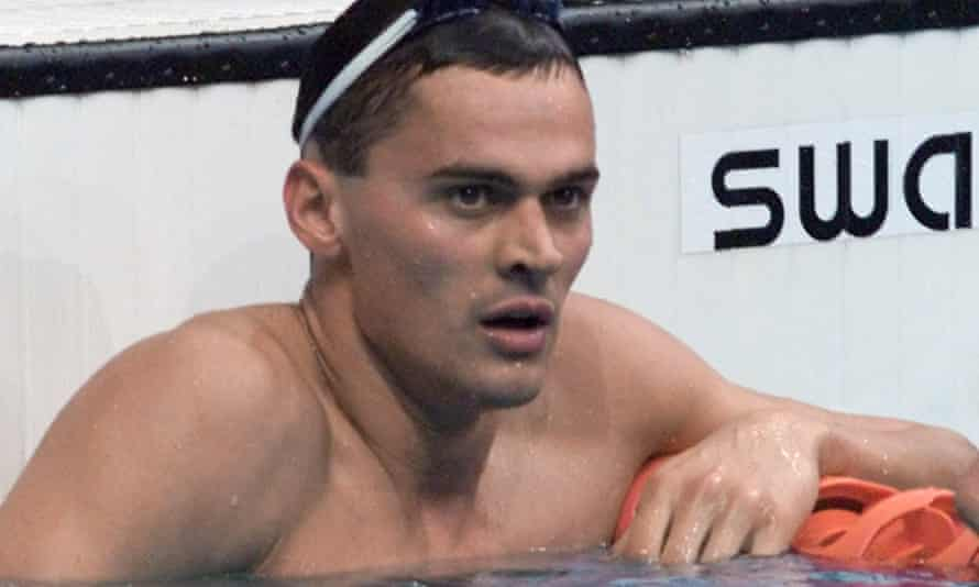 """Russian swimmer Alexander Popov, who described doping allegations """"like a punch in the face""""."""