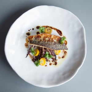 Hicce's charred fresh mackerel with radicchio and kumquats is an enjoyable, bittersweet slap'.