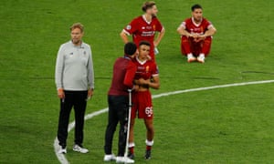 Klopp dejected after the 2019 final.