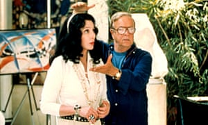 Cher with Franco Zeffirelli on the set of Tea With Mussolini, 1999.
