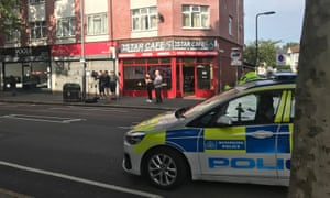 The police officer remains in hospital in a serious but stable condition.