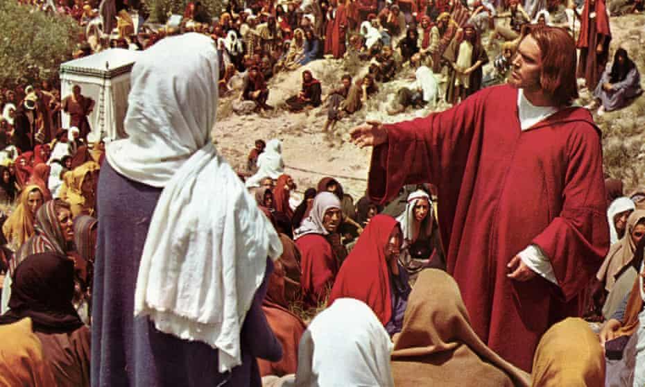 Jeffrey Hunter as Jesus in King of Kings