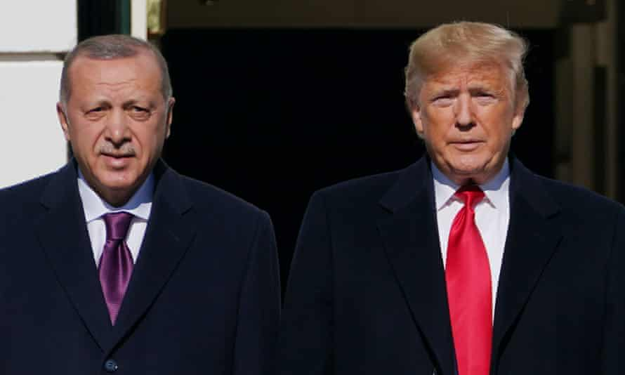 Recep Tayyip Erdoğan and Donald Trump at the White House in November 2019