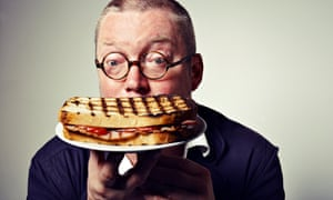 Fergus Henderson photographed for Observer Food Monthly at St John Hotel, WC2 on 30th June 2012