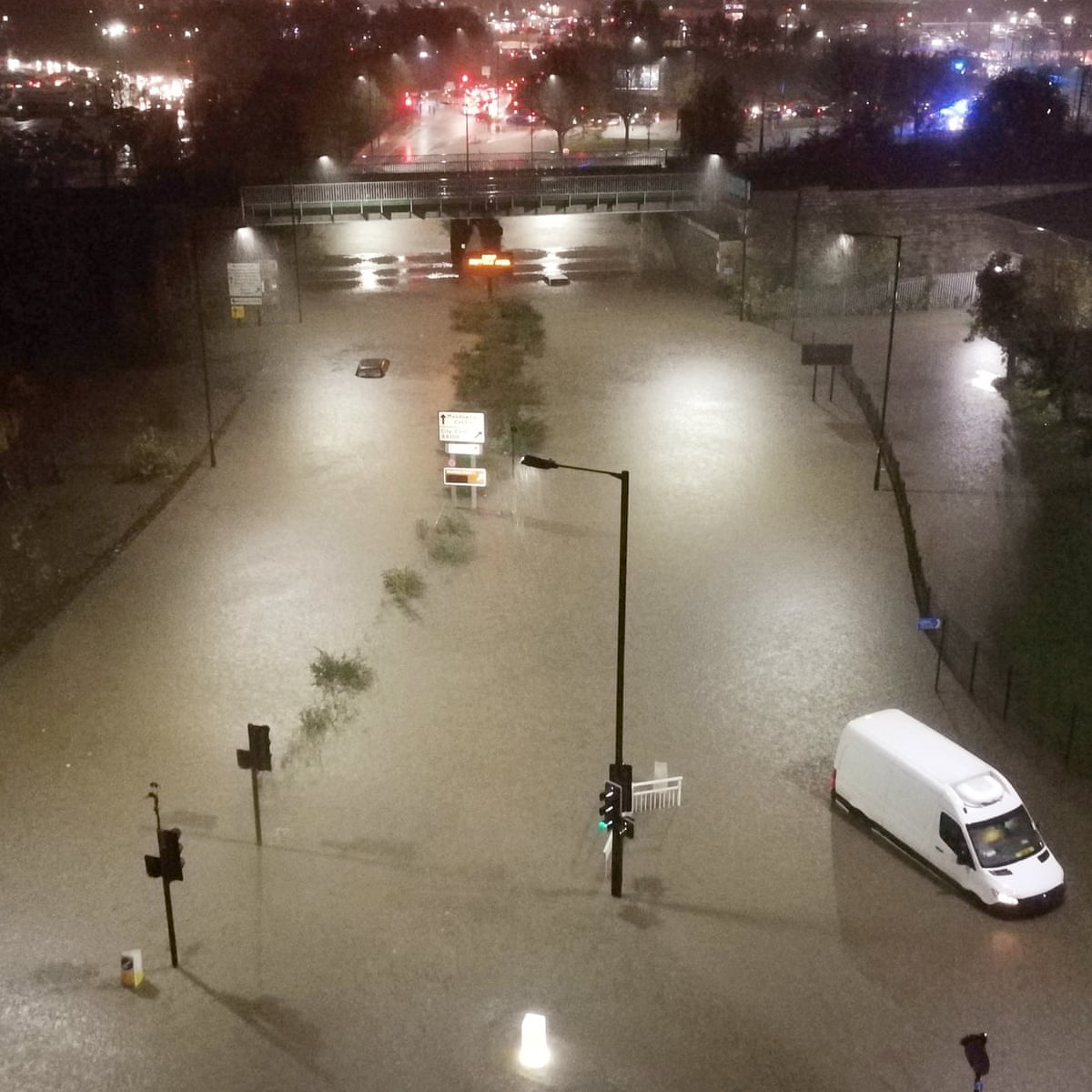 We Had To Buy Blankets Floods Force Shoppers To Spend Night In Meadowhall Flooding The Guardian