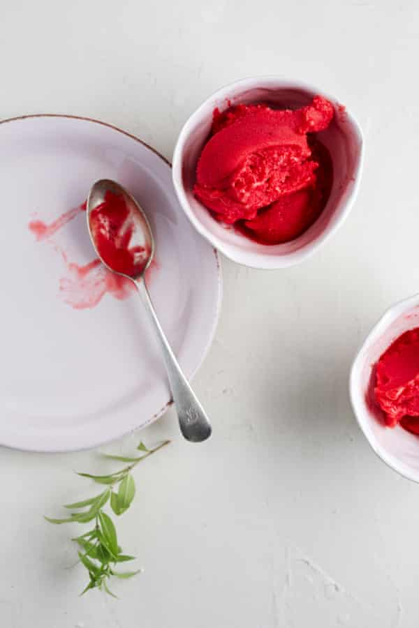 Raspberry sorbet.