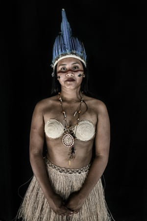 Cristiane Andre Souza, 20, a student at the Indigenous Education and Culture Centre of Raposa Serra do Sol in Surumu. She is a Macuxi indigenous girl from Maturuka