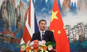 Jeremy Hunt China