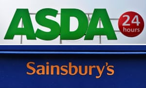 Asda and Sainsbury's logos