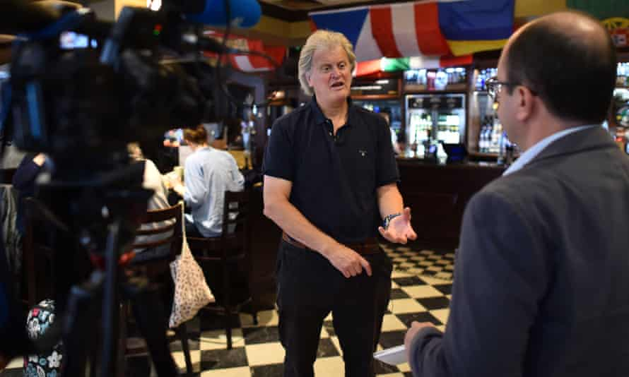 JD Wetherspoon boss Tim Martin being interviewed prior to the EU referendum – in which he urged his customers to vote leave – in June.