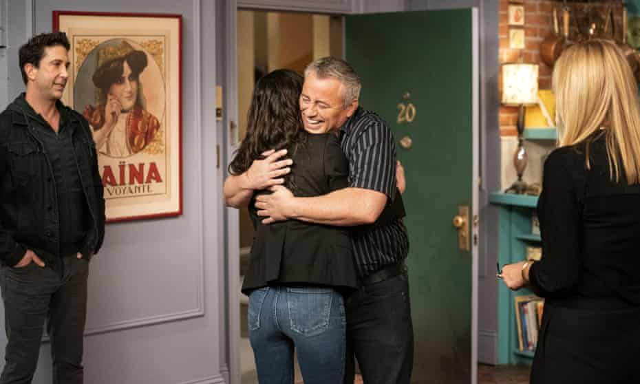 Clearly happy and at ease with himself ... Matt LeBlanc.