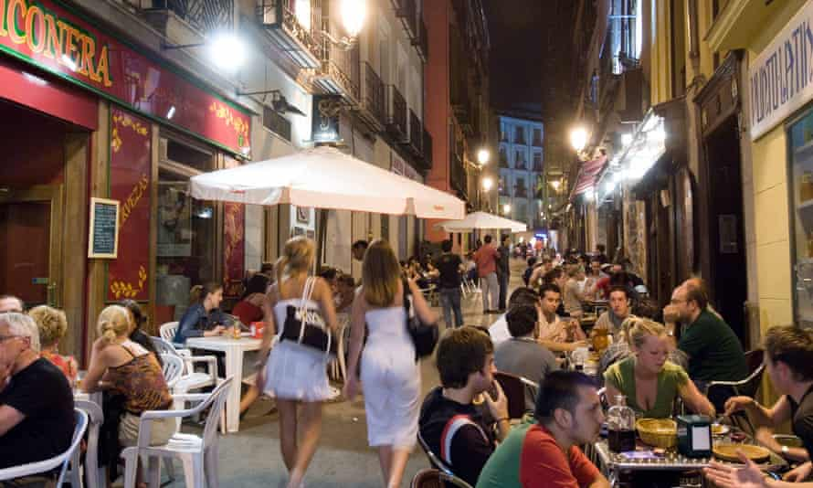 Bars in Madrid don't start to close until 2am