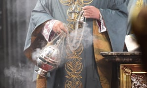 Censer at a church service in Germany