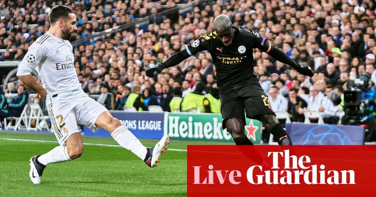 Real Madrid v Manchester City: Champions League, últimos 16, partido de ida - ¡en vivo! El | Fútbol americano 56