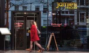 A branch of Jamie's Italian in Angel, north London.