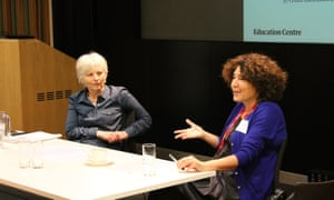 Julia Eccleshare and Francesca Simon at the Guardian Education Centre Reading for pleasure conference 5 March 2018.