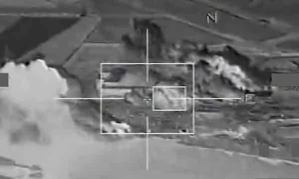 French airstrikes on Isis strongholds in Syria.