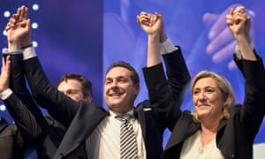Heinz-Christian Strache and Marine Le Pen