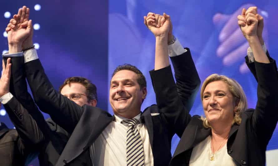 Heinz-Christian Strache and Marine Le Pen