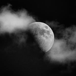 The moon photographed by photographer Tim Easley and taken from his book Moon.