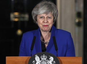 London, EnglandPrime Minister Theresa May addresses the media in Downing street after her government defeated a vote of no confidence in the House of Commons.