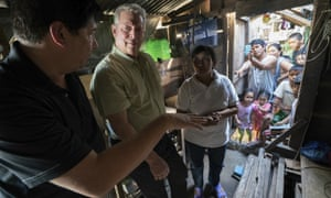 Al Gore, second left, in a scene from An Inconvenient Sequel by Bonni Cohen and Jon Shenk.