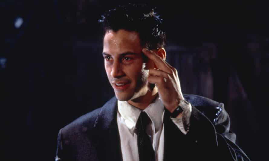 Keanu Reeves in Johnny Mnemonic, a film that offers a lot to enjoy – if we suspend our own cynicism.