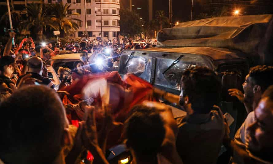 Supporters of Saied gather on the streets