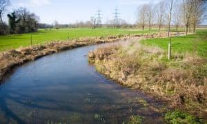 River Alde at Langham Bridge near Blaxhall, Suffolk, England
