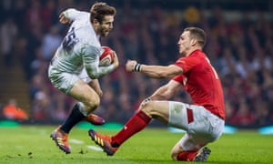 Elliot Daly, taking on Wales' George North, said of England's game management: 'We're working on it.'