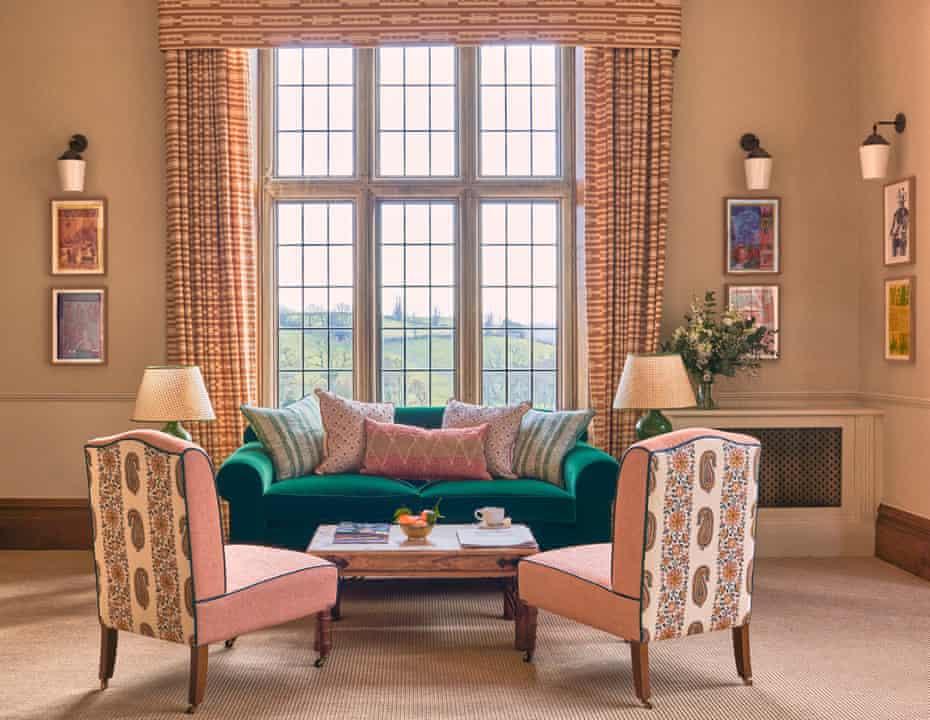 Lounge area at Callow Hall Ashbourne, Derbyshire, UK
