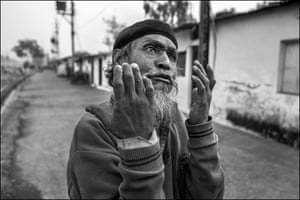 A man living in the Atal Ayub Nagar neighbourhood near the abandoned Union Carbide chemical plant vents his anger over the indifference shown by the Indian government to the impact of the explosion 35 years ago on the lives of those living today in the disaster zone.