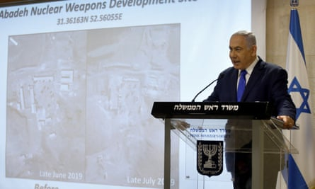 Benjamin Netanyahu delivers a statement on Iran