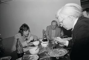 Mick Jagger, William Burroughs and Andy Warhol, 1980