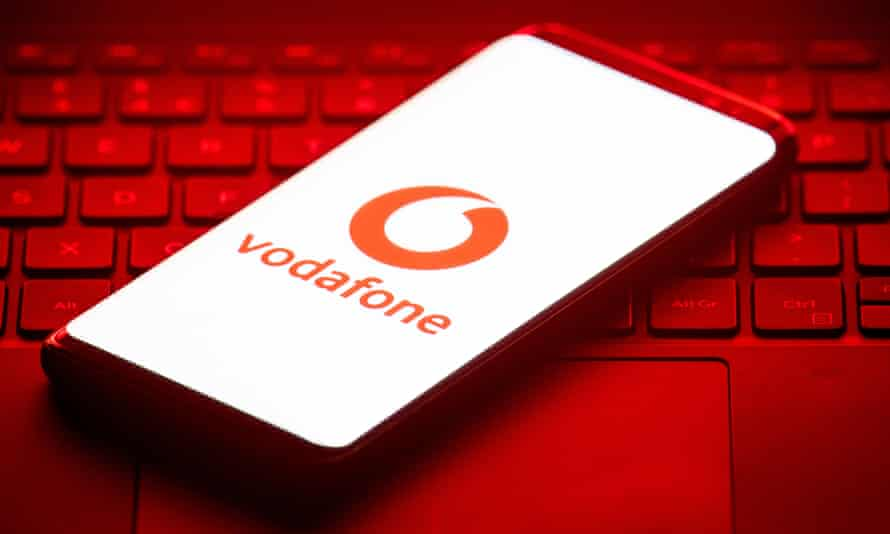 A Vodafone phone